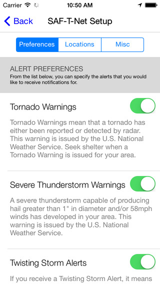 Instant severe weather alerting