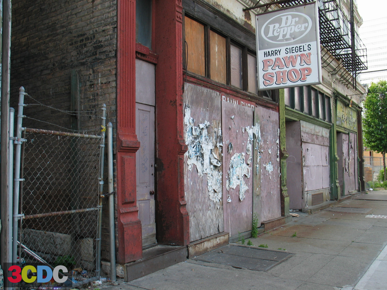 [BEFORE] LOCATION: Vine Street, looking south between 12th and 13th Streets (Over-the-Rhine) / IMAGE: Courtesy of 3CDC