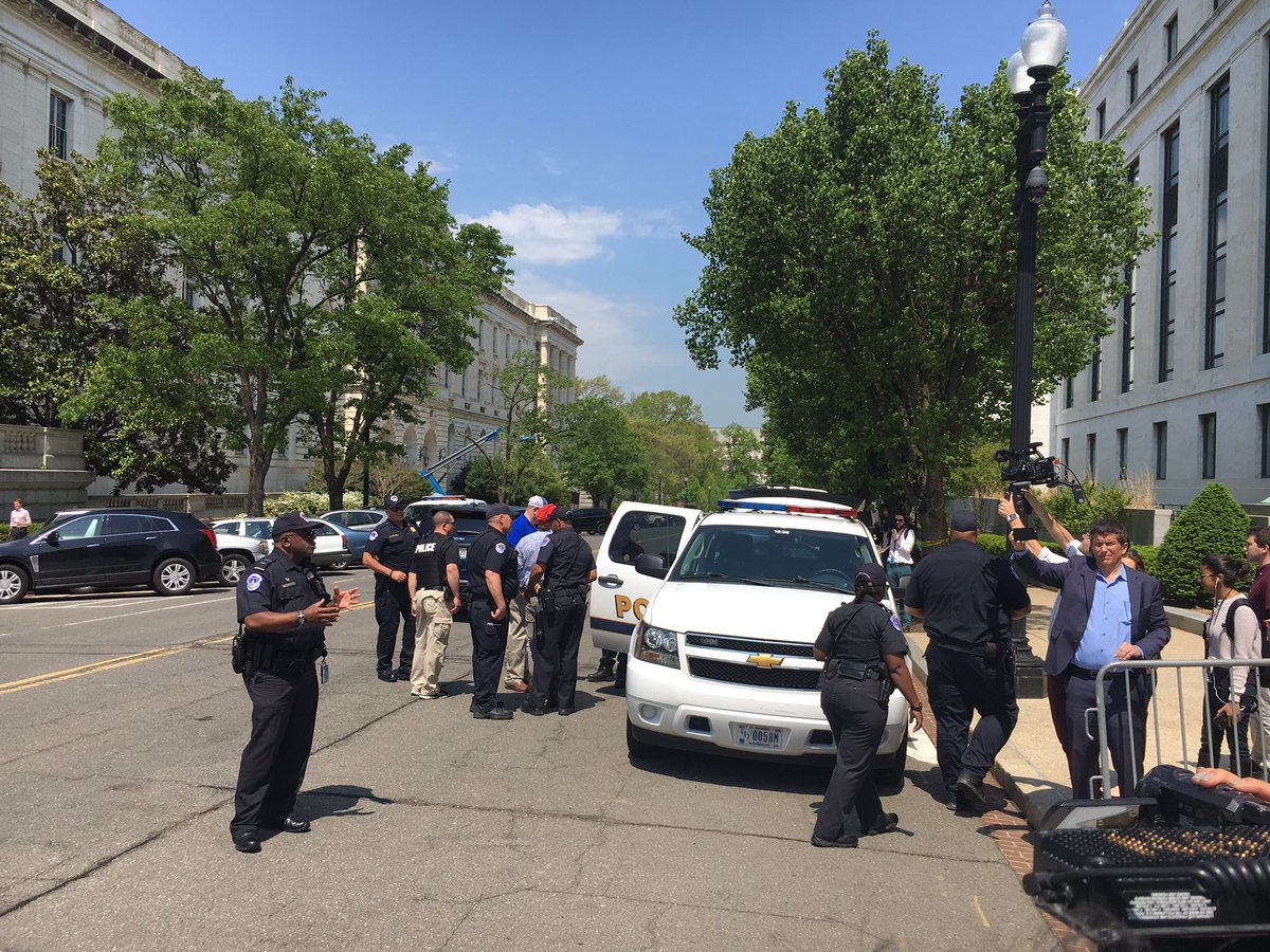 Pro-pot activists arrested for handing out free joints on Capitol Hill on 4/20. (Q McCray/ ABC7)