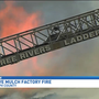 15 fire departments fight massive mulch factory fire