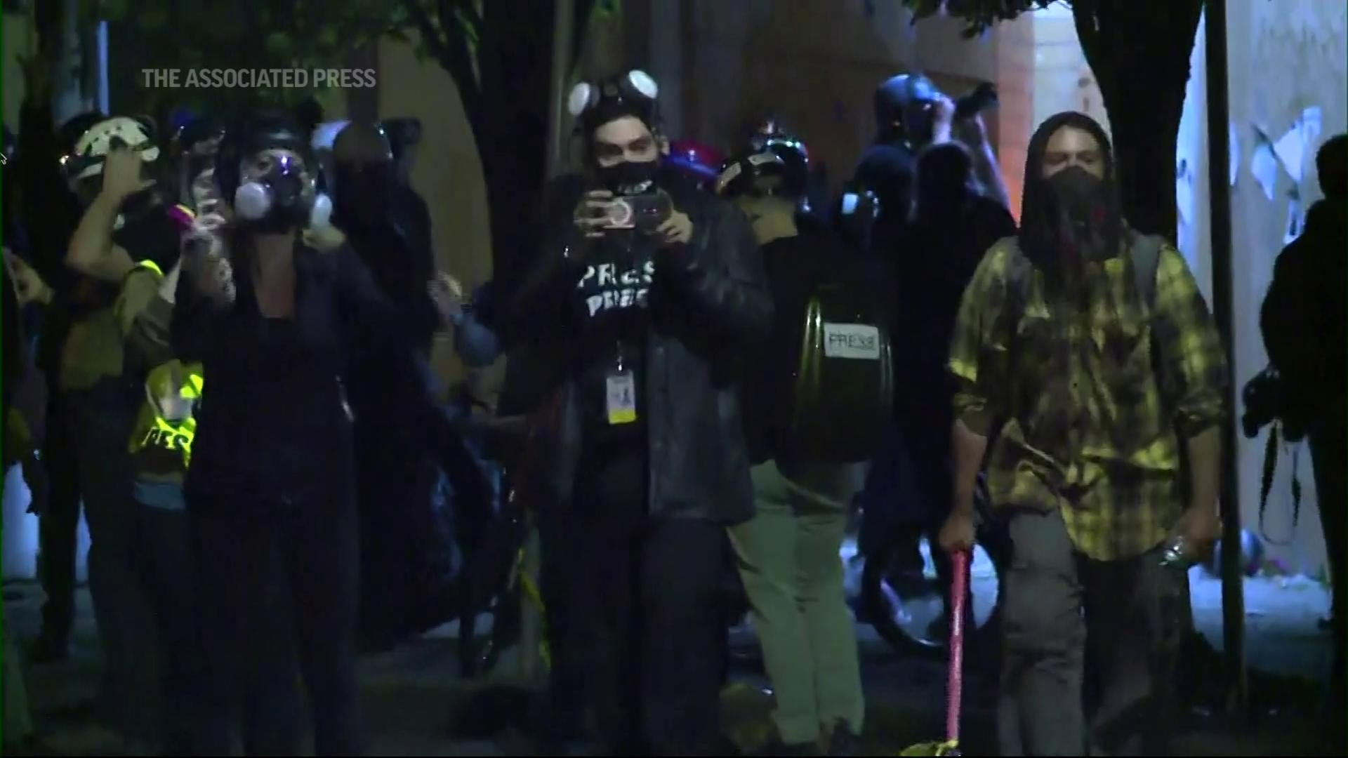 Portland, Oregon police declared an unlawful assembly outside a precinct on Thursday night and ordered protesters to leave. Earlier, the city's Mayor criticized the protests that have shaken Portland since George Floyd was killed. (Aug. 7)Thumbnail