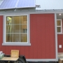 "Students put finishing touches on ""tiny house"""