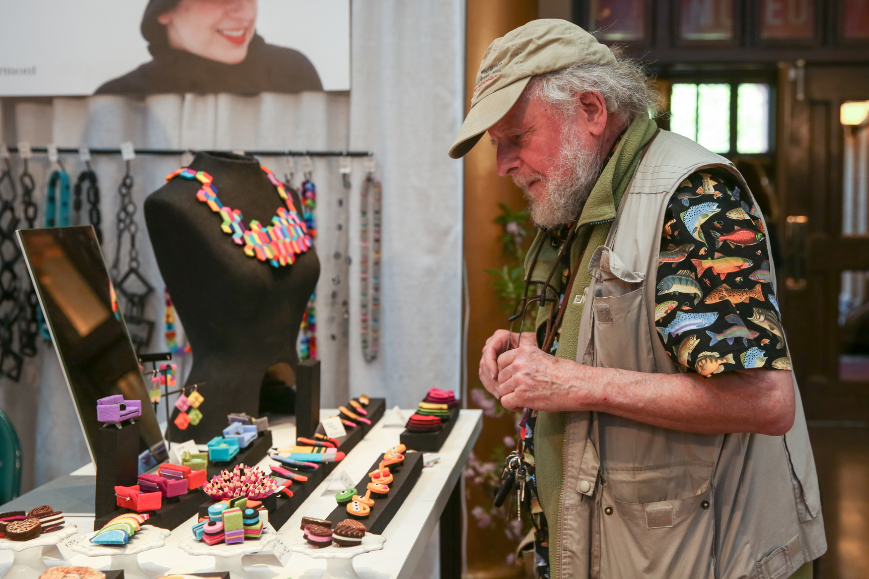 At the 36th annual{ } Smithsonian Craft Show, over 100 American artists and vendors get the chance to show off their creations. The offerings range from gorgeous hand-crafted furniture to heirloom-worthy jewelry to off-the-wall pieces of art. The show opens April 26 and runs until April 29 and a one day pass is $20. (Amanda Andrade-Rhoades/DC Refined)