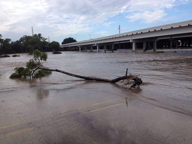 KEYE TV Reporter Fred Cantu captured this shot at the Blanco River under I-35.
