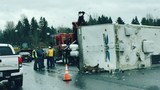 I-5 southbound blocked in Kelso due to crash