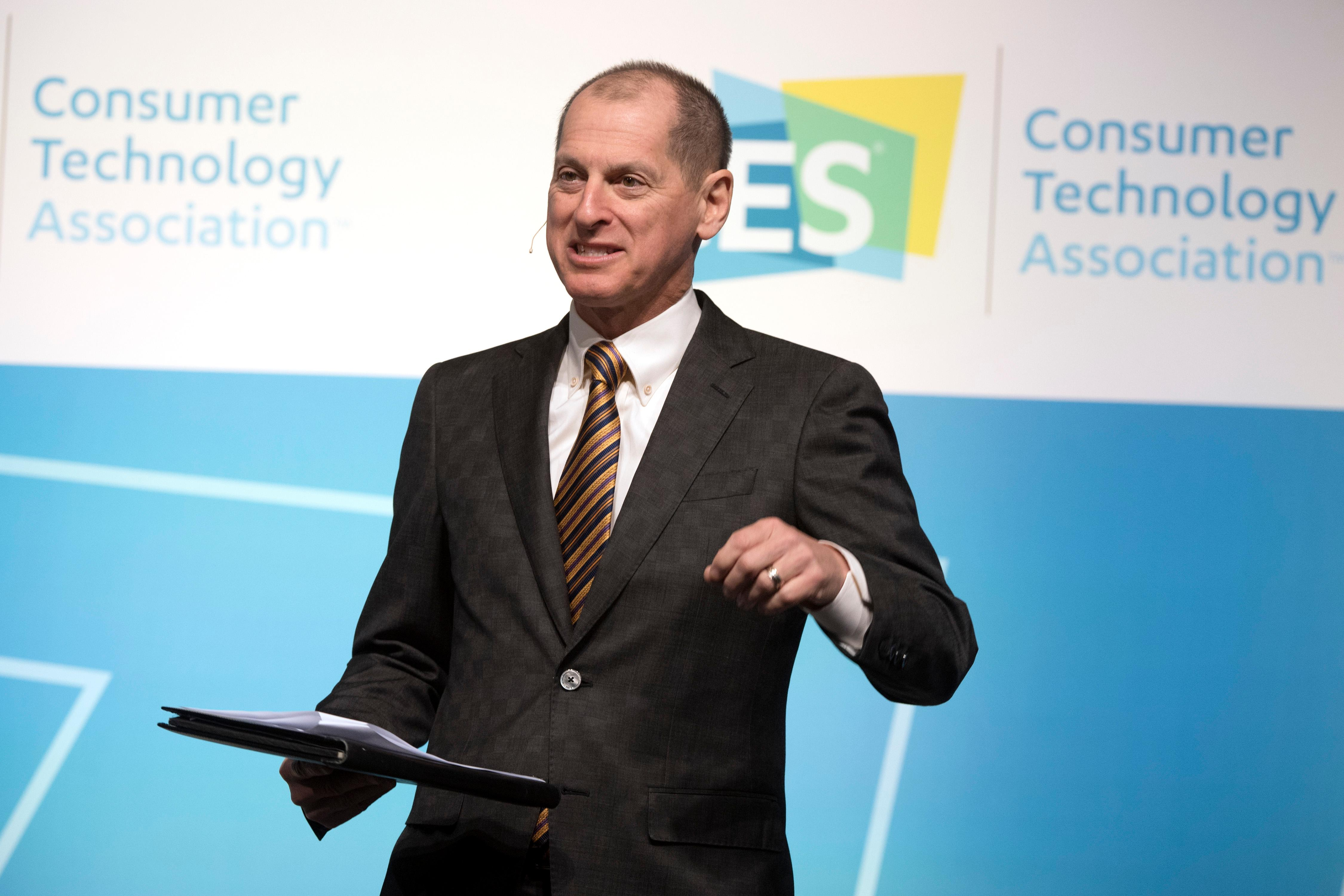 Consumer Technology Association President and CEO Gary Shapiro speaks during the second day of CES Wednesday, January 10, 2018, at the Westgate. CREDIT: Sam Morris/Las Vegas News Bureau