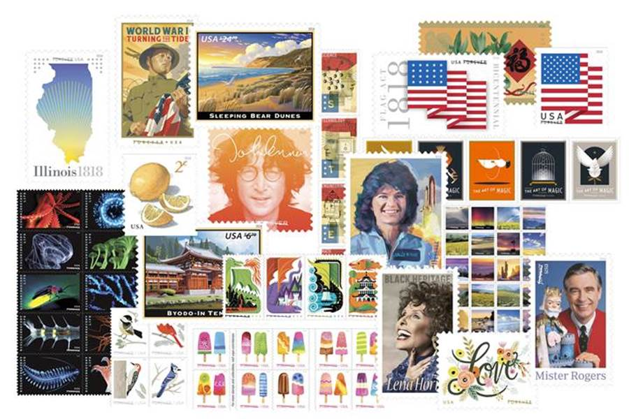 With a new year just around the corner, the U.S. Postal Service is raising the curtain to provide a sneak peek at a portion of its 2018 stamp program. (USPS)