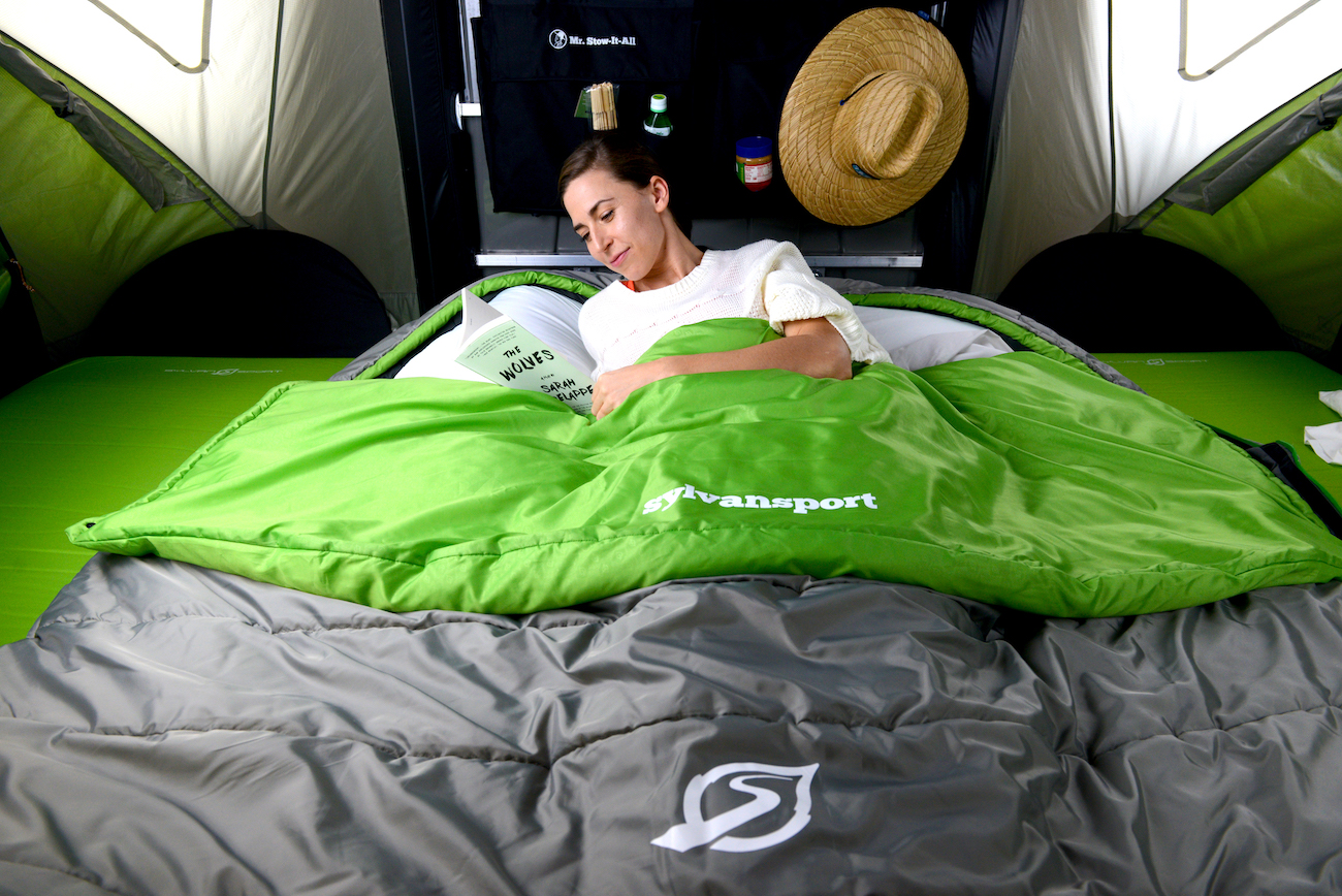 "<p>SylvanSport's Cloud Layer Double is a spacious and adaptable three-season sleeping bag that's larger than a queen-sized mattress. It features a custom inner pocket to hold your device, glasses, etc., and a removable quilt layer for use as a cozy camp blanket. /{&nbsp;}<a  href=""https://www.sylvansport.com/"" target=""_blank"" title=""https://www.sylvansport.com/"">Website{&nbsp;}</a>/ Price: $299.95 / Image courtesy of SylvanSport // Published: 12.6.20</p>"