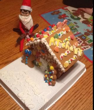 ...eating a gingerbread house