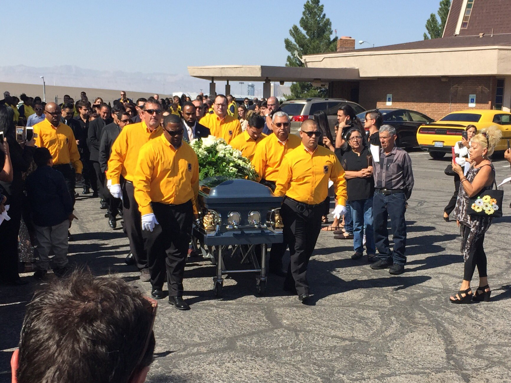 Erick Silva, 21, was laid to rest on Oct. 12 after he was shot and killed in the '1 October' Las Vegas shooting where he was working as a security guard. His mother asked his coworkers to come in uniform to the funeral. (Denise Rosch | KSNV)