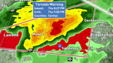 Tornado warning in Tuscola, Sanilac County