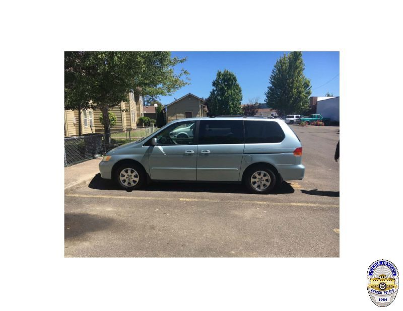Police say Cynthia Martinez-Perez left Tequila Nights Bar and Grill on July 16 in this Honda Odyssey with Jaime Alvarez-Olivera and another man. (Photo courtesy Keizer Police Department.)<p></p>