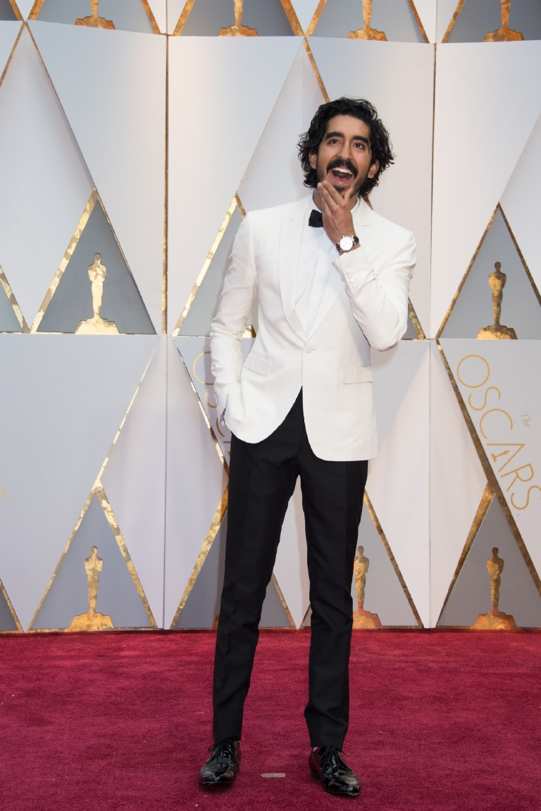 Dev Patel, Oscar® nominee, arrives on the red carpet of The 89th Oscars® at the Dolby® Theatre in Hollywood, CA on Sunday, February 26, 2017. (©A.M.P.A.S.)