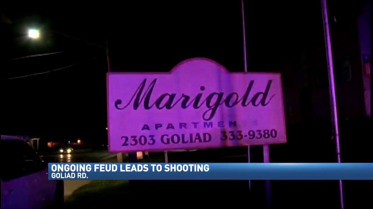 ongoing feud between neighbors leads to shooting at apartment