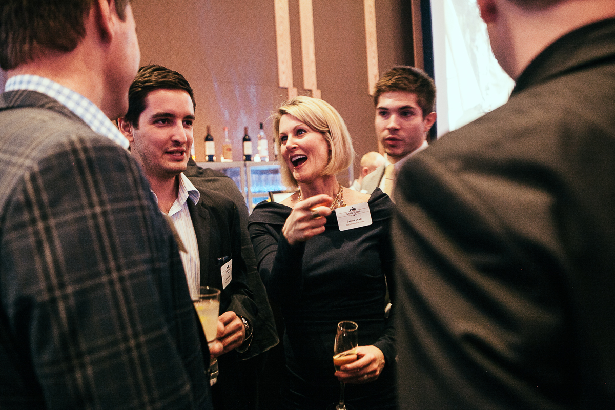 Janene Drafs, Jason Smith and John Miller celebrate the launch of Seattle Refined at the Four Seasons. (Image: Joshua Lewis / Seattle Refined)