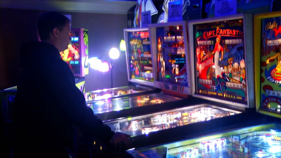 The owner of Asheville Pinball Museum has opened a museum in downtown Hendersonville. (Photo credit: WLOS staff)