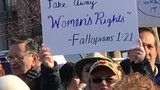 Demonstrates come together for Women's March on Seneca Falls