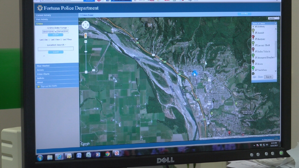 Fortuna PD launches an online crime map | KRCR