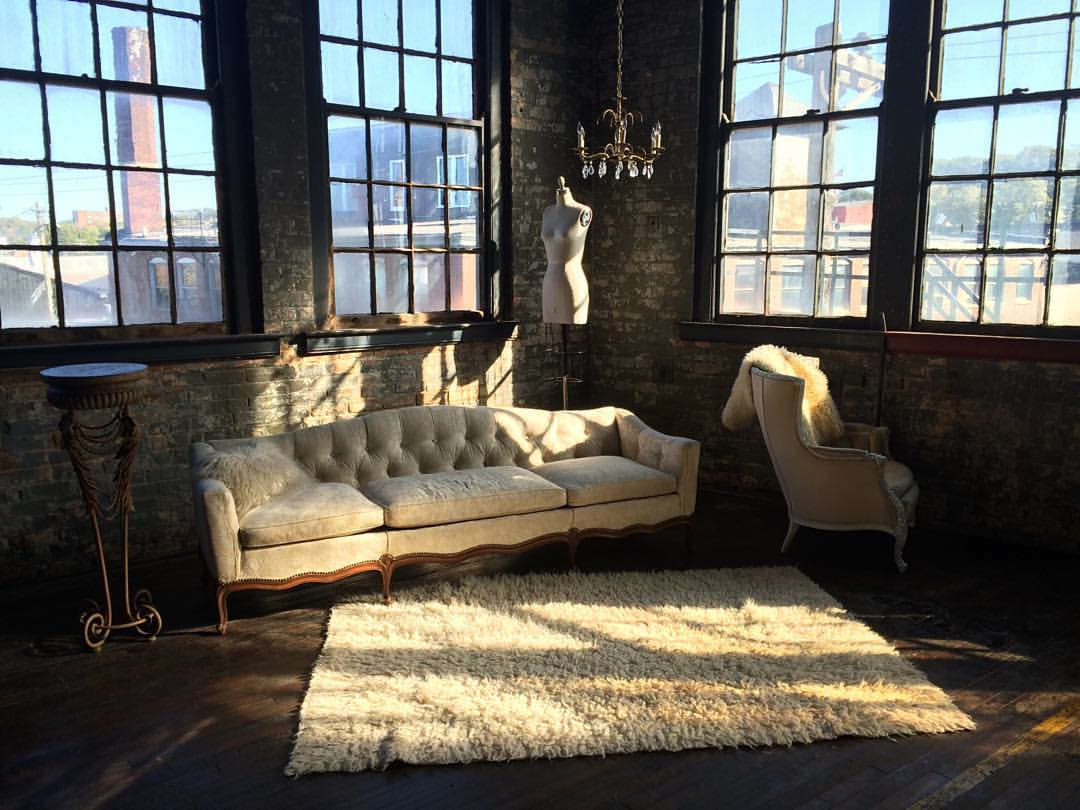 Doesn't the sunlight streaming in the windows make this studio look insanely awesome? -- Image courtesy of Queen City Vignette