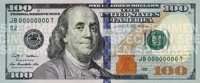 The new $100 bill is set to go into circulation on Oct. 8, 2013, after two years of production delays. Some safeguards include a blue ribbon woven into the paper and a color-changing Liberty Bell.