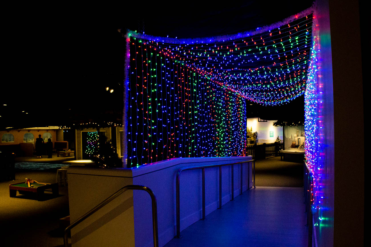 A new lighted tunnel was added to the exhibit this year, perfect for festive photos. / Image: Katie Robinson, Cincinnati Refined // Published: 11.8.19