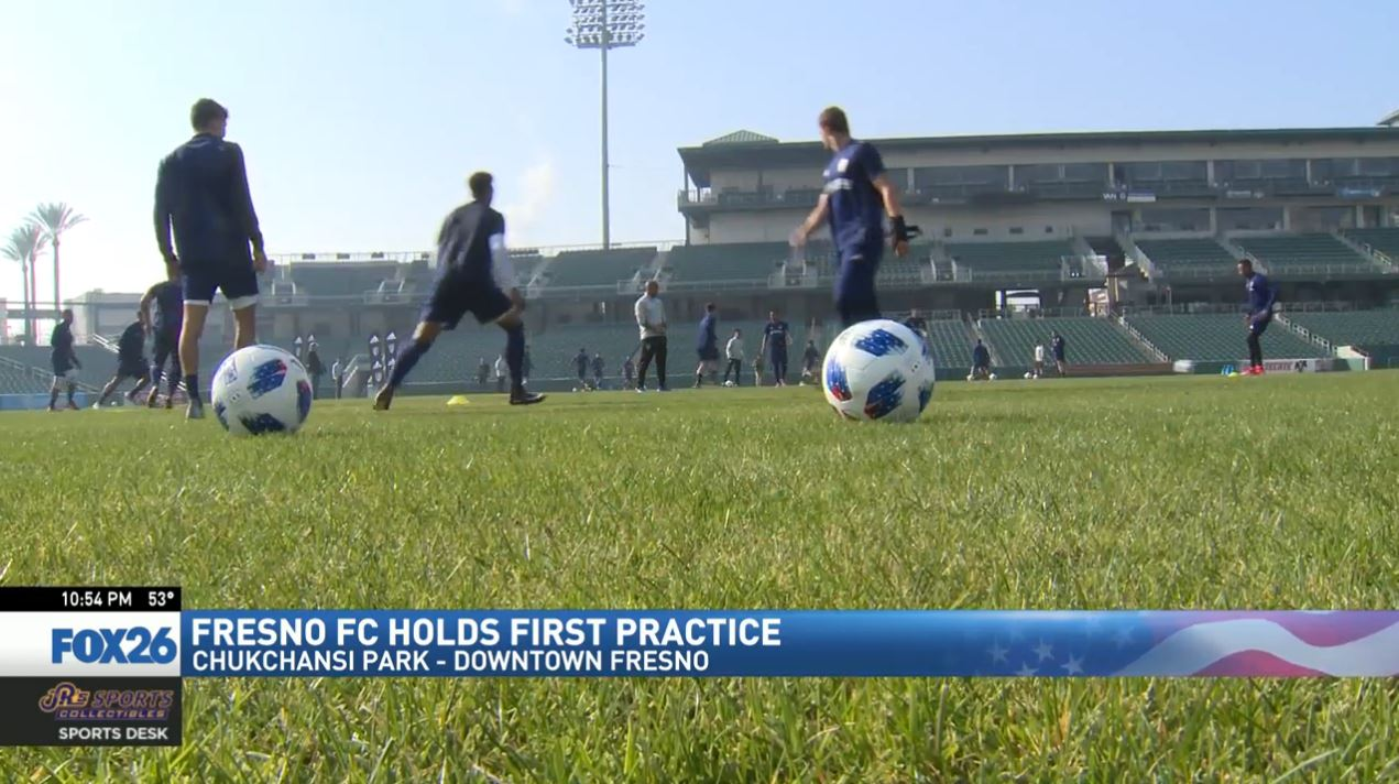 Wednesday was another milestone for the Fresno Football Club as the Foxes held their first official practice.