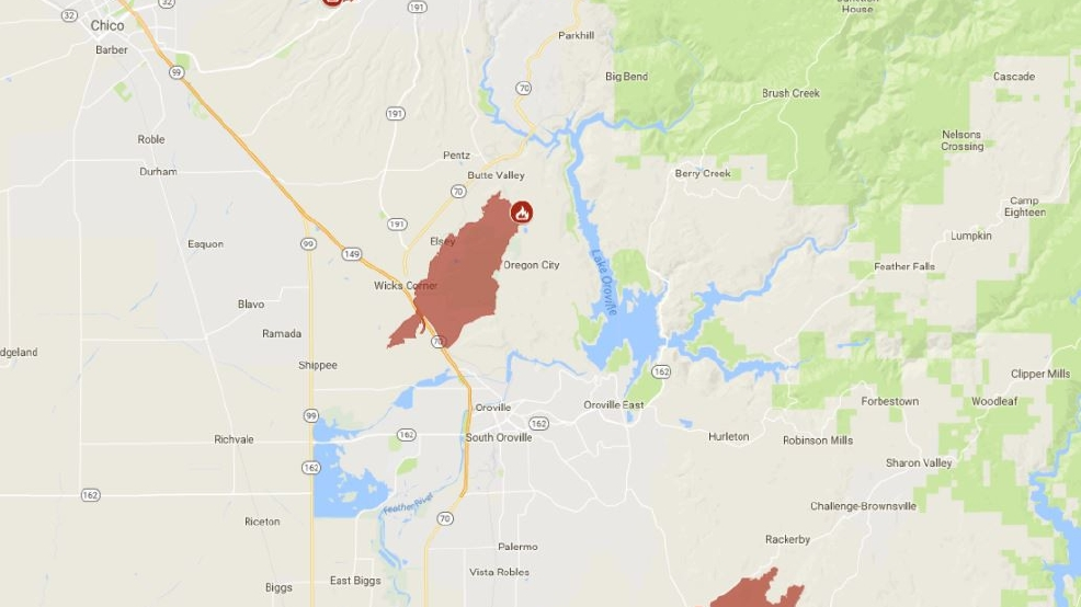 High Containment In Butte County KRCR - Butte county map
