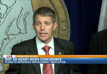 Rep. Ed Henry to submit impeachment papers for Gov. Bentley