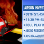 Canyon PD investigating alleged arson on 38th Street