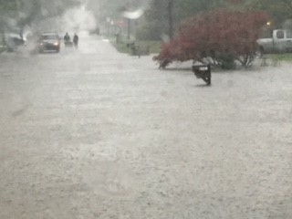Flooding in Portage has become severe (Courtesy of Rachael Falkowski)<p></p>