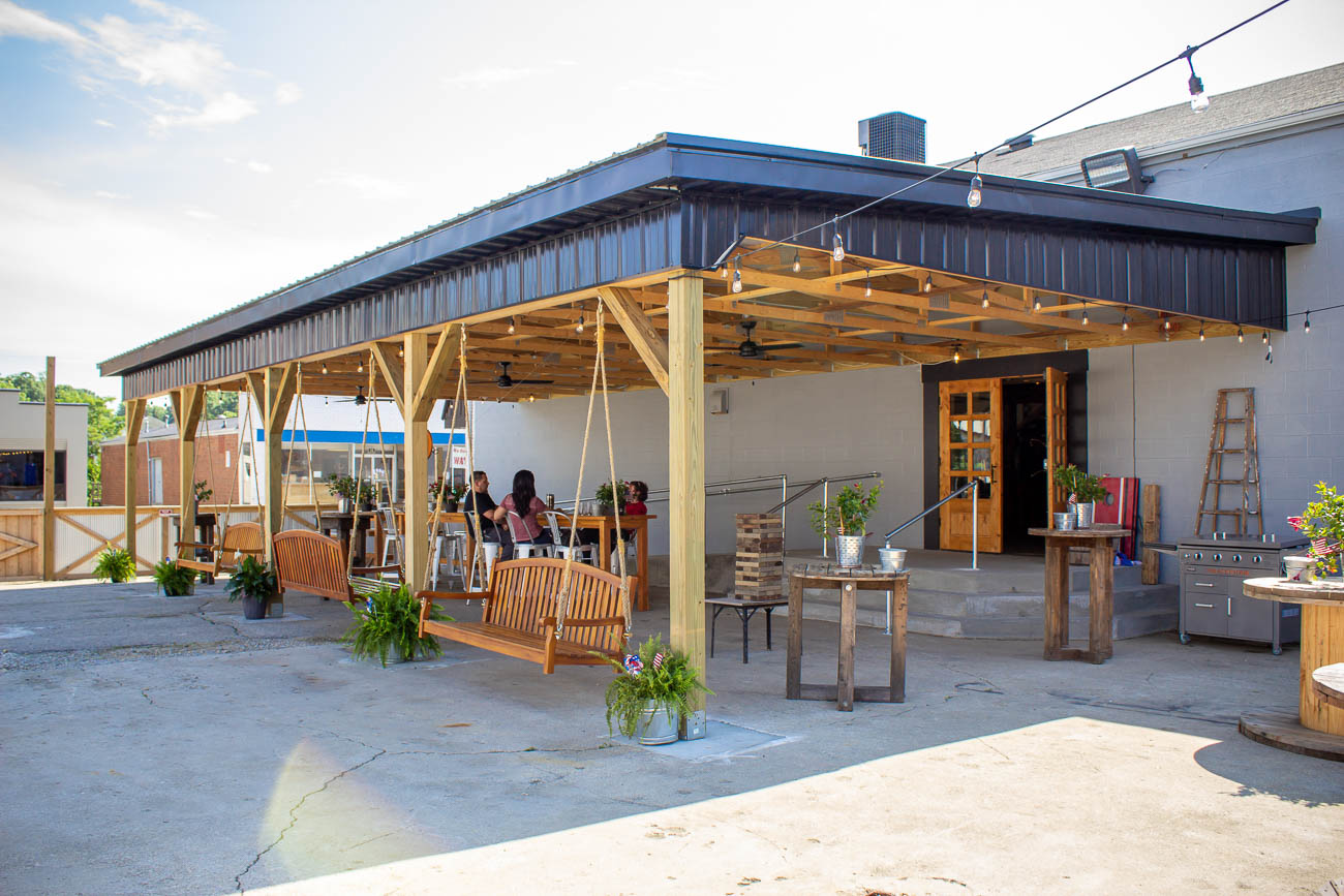 The outdoor patio features games, swings, and live bands on select nights. Food trucks visit the cidery on weekends, but the Vaughans also have plans to have a restaurant onsite that will prepare flatbread pizzas and appetizers. / Image: Katie Robinson, Cincinnati Refined // Published: 7.22.19