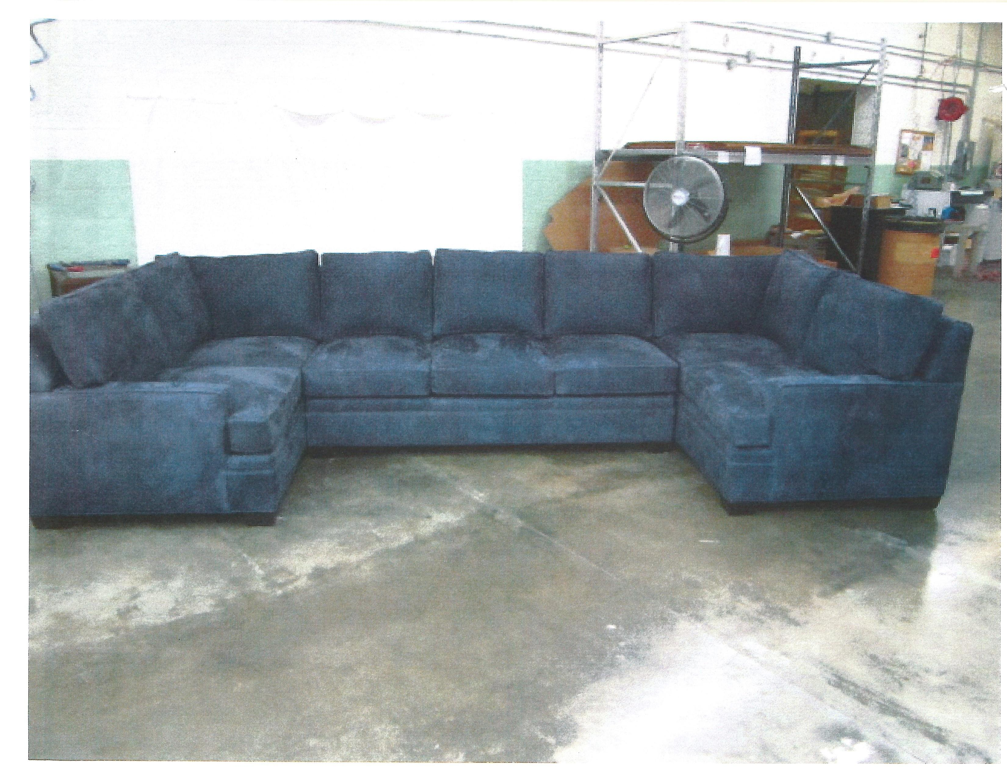 The nearly $32,000 sectional sofa from Carpet Gallery was paid for with taxpayer money for Chief Justice Allen Loughry's chambers. (WCHS/WVAH)