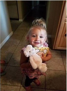 Carter Grace Gerschoffer, 2, was found safe at a motel near Grand Rapids Monday afternoon.