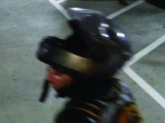 Police are asking for help to find a burglary suspect who wears a motorcycle helmet to disguise his face. They say he's behind a string of burglaries at apartment buildings in Everett.{ } (Photo: Everett Police){ }