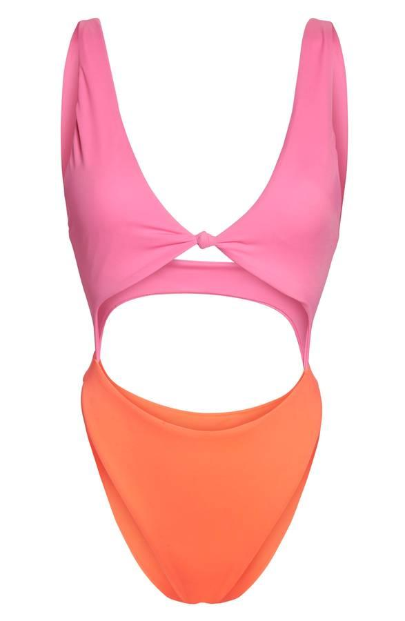 Leith Colorblock One-Piece Swimsuit, $89 (Image: Nordstrom)
