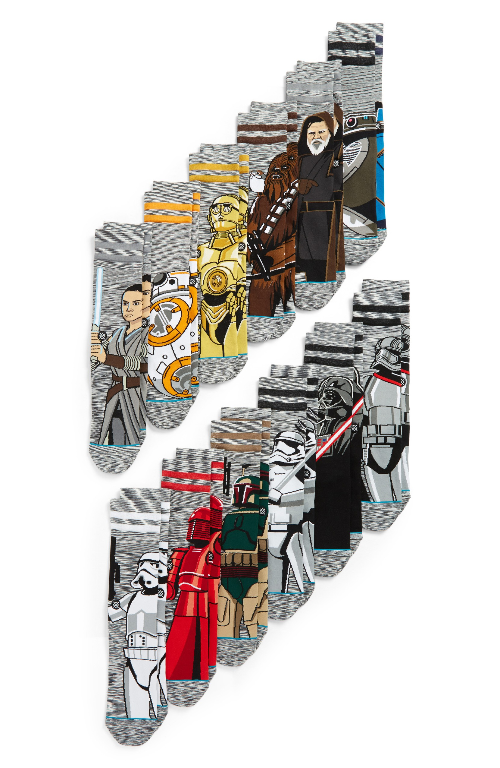 I can't even handle these but just think about how much the Star Wars loving dad will just die over these. This massive collection of socks brings the Imperial Empire and Rebel Alliance face-to-face and toe-to-toe in a commemorative box set. $280 (Image: Nordstrom){ }
