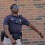Saginaw Police officer shows off dance moves.