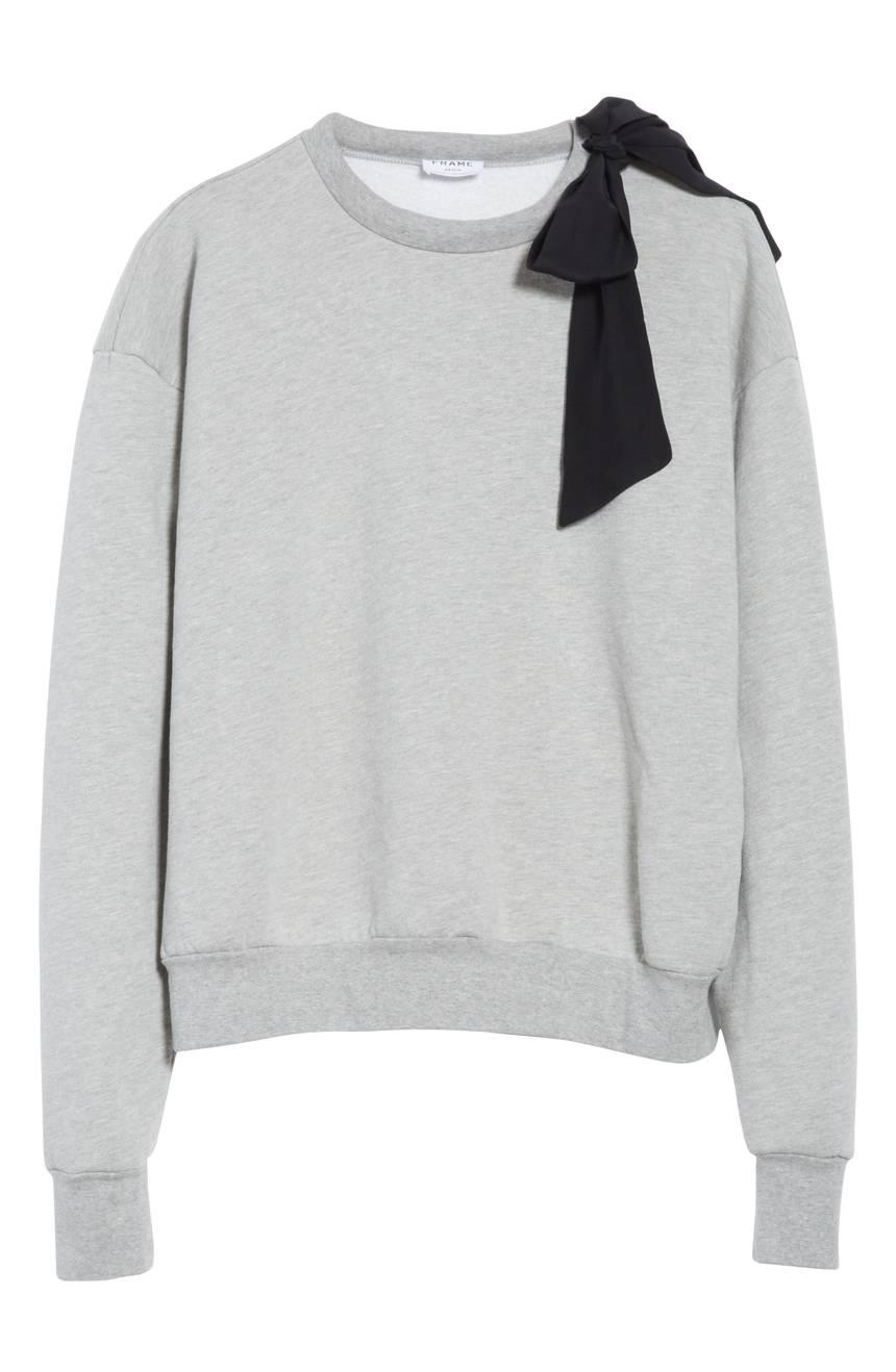 FRAME Bow Sweatshirt from Nordstrom // Price: $215 // (Nordstrom // Nordstrom.com){&amp;nbsp;}<p></p>
