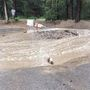 Flash flooding on Lee Canyon, Deer Creek roads threatening bridge to Whispering Pines