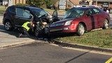 Two-car crash snarls traffic, injures one on West Centre Avenue near Brookwood Drive