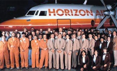 Horizon Air uniforms from the 1980s. Photo courtesy Alaska Airlines