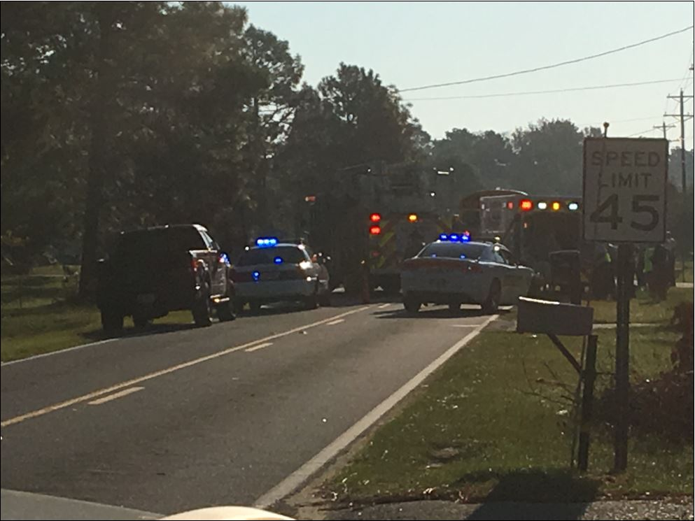 Picture of the scene this morning on Mt. Pleasant road.