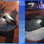 Car damaged after nearly falling in sinkhole in Lake City