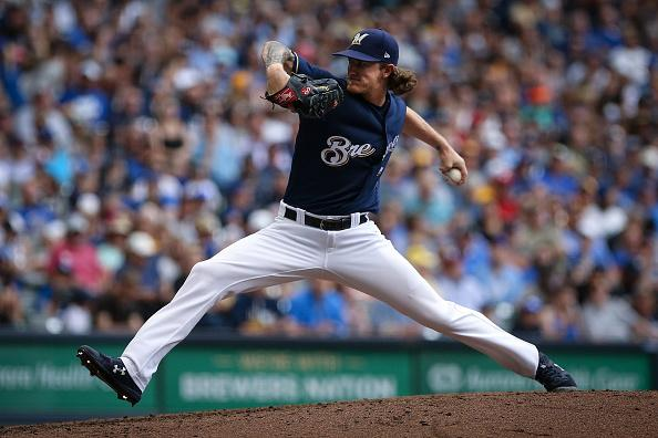 Josh Hader's 16.72 strikeouts per nine innings are the most in the major leagues.