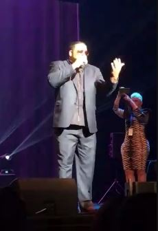 Singer Al B. Sure performs at Donnie Simpson 40 year anniversary celebration, Sunday, Oct. 22, 2017 (Julie Wright/ABC7){&amp;nbsp;}<p></p>
