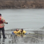 Bellevue Fire Department trains for ice rescues