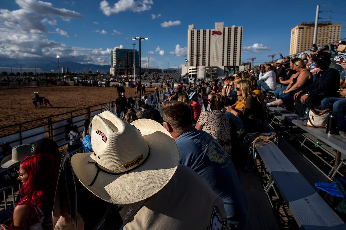 Fans gather to watch day one of the Las Vegas Days Rodeo at the Plaza Hotel CORE Arena on Friday May 10, 2019. Las Vegas Days, formerly known as Helldorado Days, is an annual cowboy-themed event celebrating Las Vegas? tribute to the Wild West. CREDIT: Joe Buglewicz/Las Vegas News Bureau