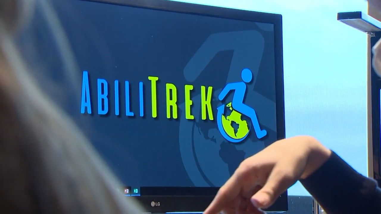 Bellingham-based start-up Abilitrek helps people with disabilities make travel arrangements that fit their specific needs. (Photo: KOMO News)<p></p>