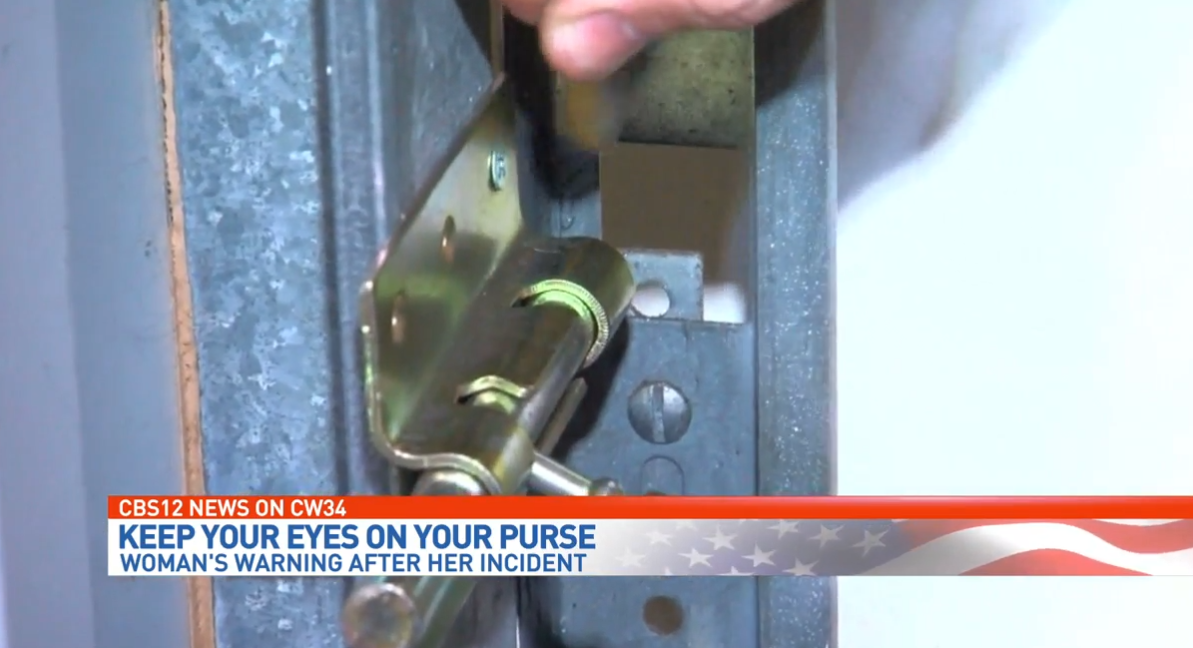 Senior living in fear after she says purse was taken from public restroom stall. (WPEC){ }