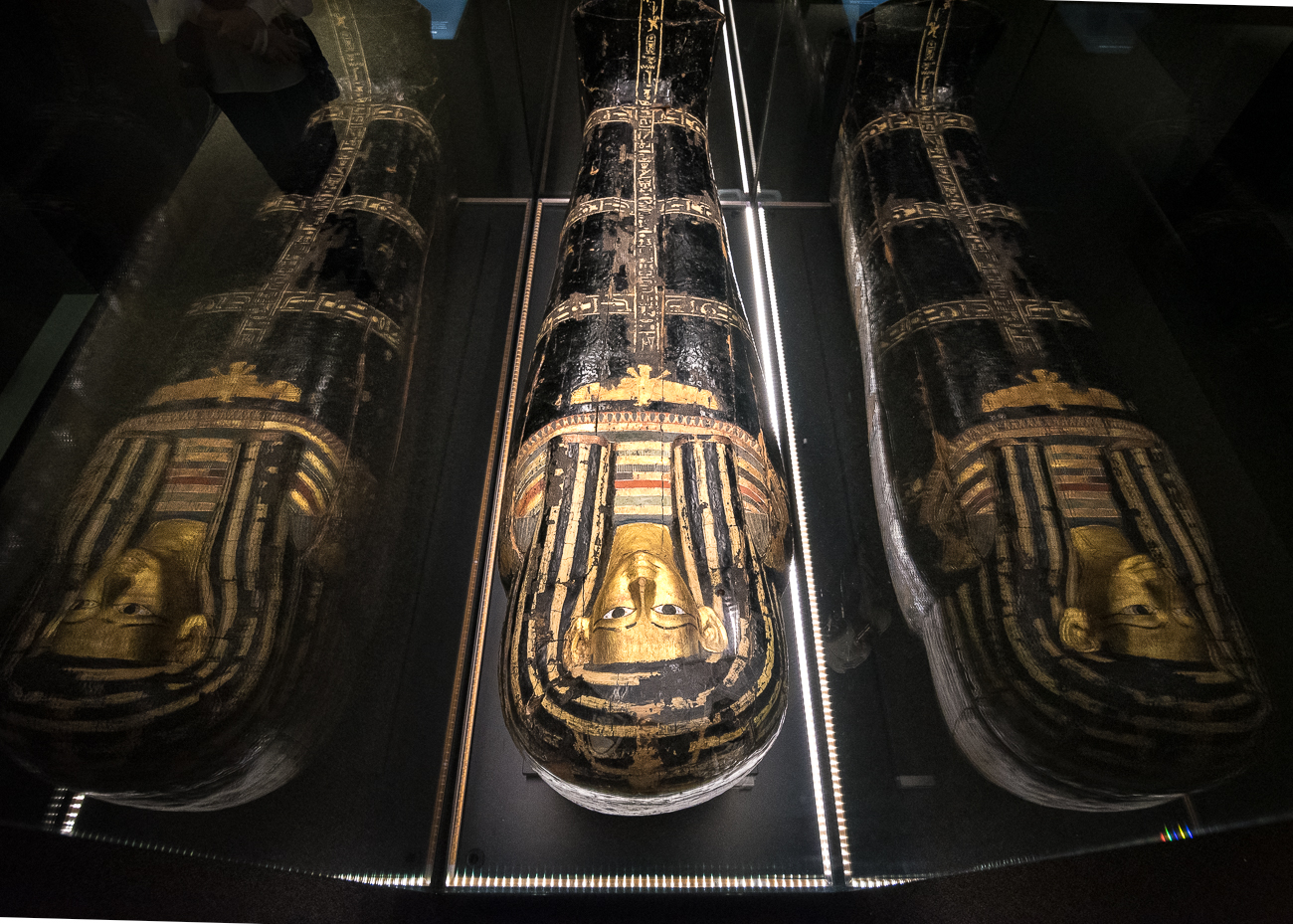 A mummy's coffin made with gold, wood, and plaster that dates back to sometime between 1428 and 1397 BC{ }/ Image: Phil Armstrong, Cincinnati Refined // Published: 2.15.19